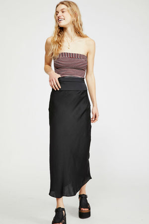 Free People - Normani Bias Skirt - Black