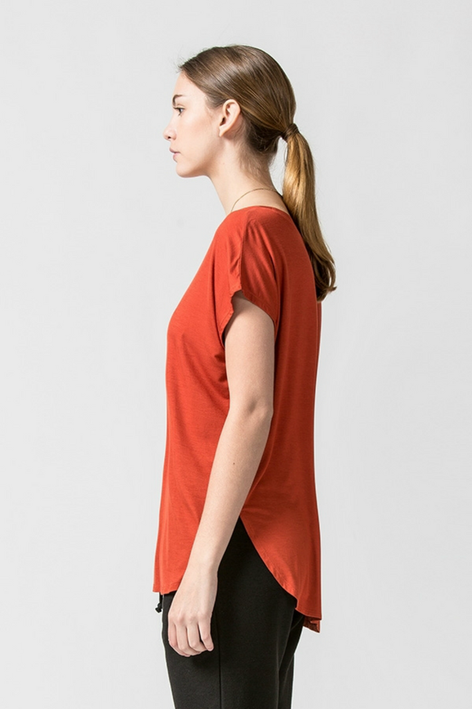 Double Zero - Tracie Tee - Rust - Side