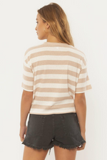 Sisstrevolution - Nautical Times Knit Tee - Tan - Back
