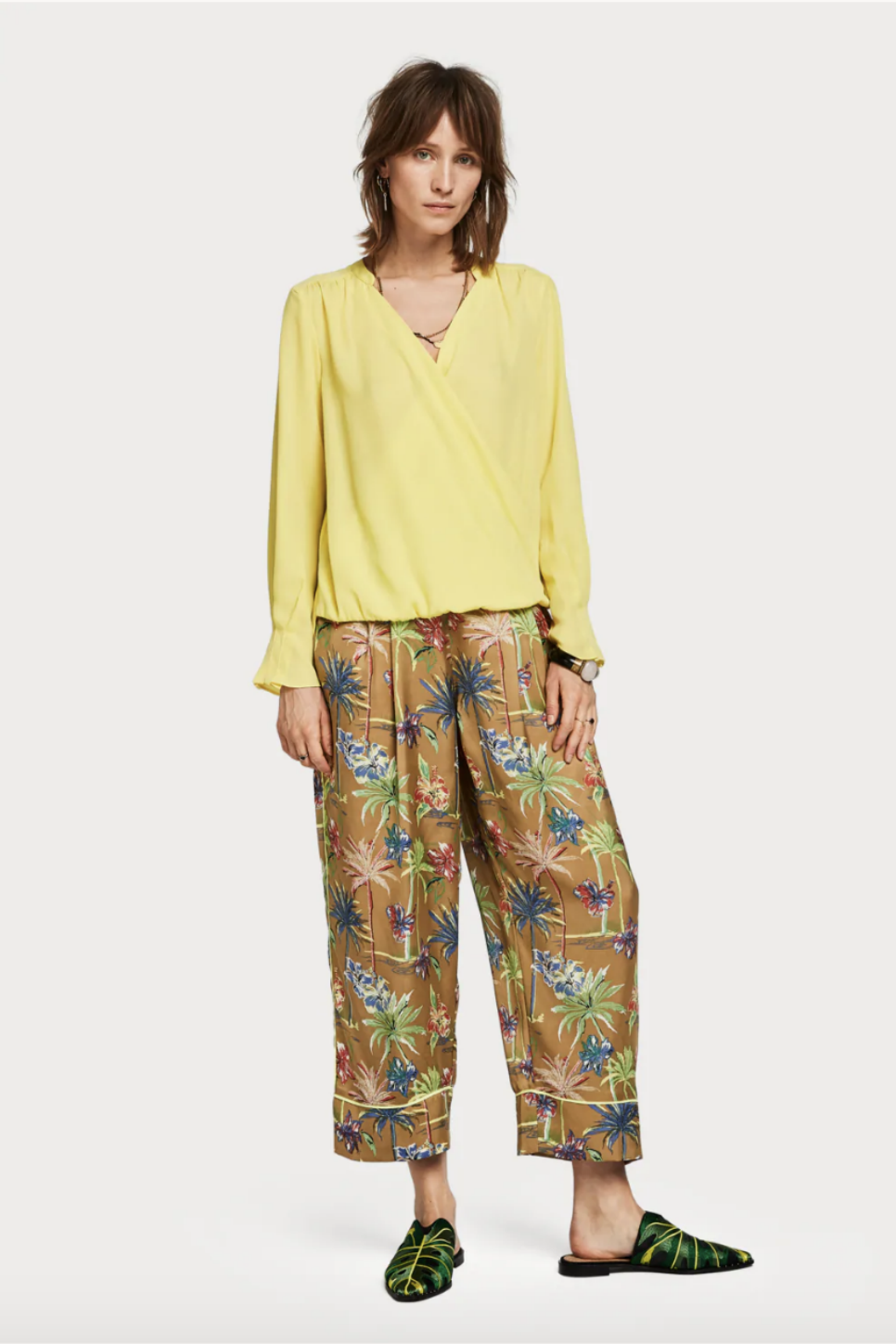 Scotch and Soda - Crossover V Neck Top - Citrus