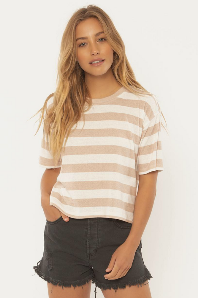 Sisstrevolution - Nautical Times Knit Tee - Tan - Front