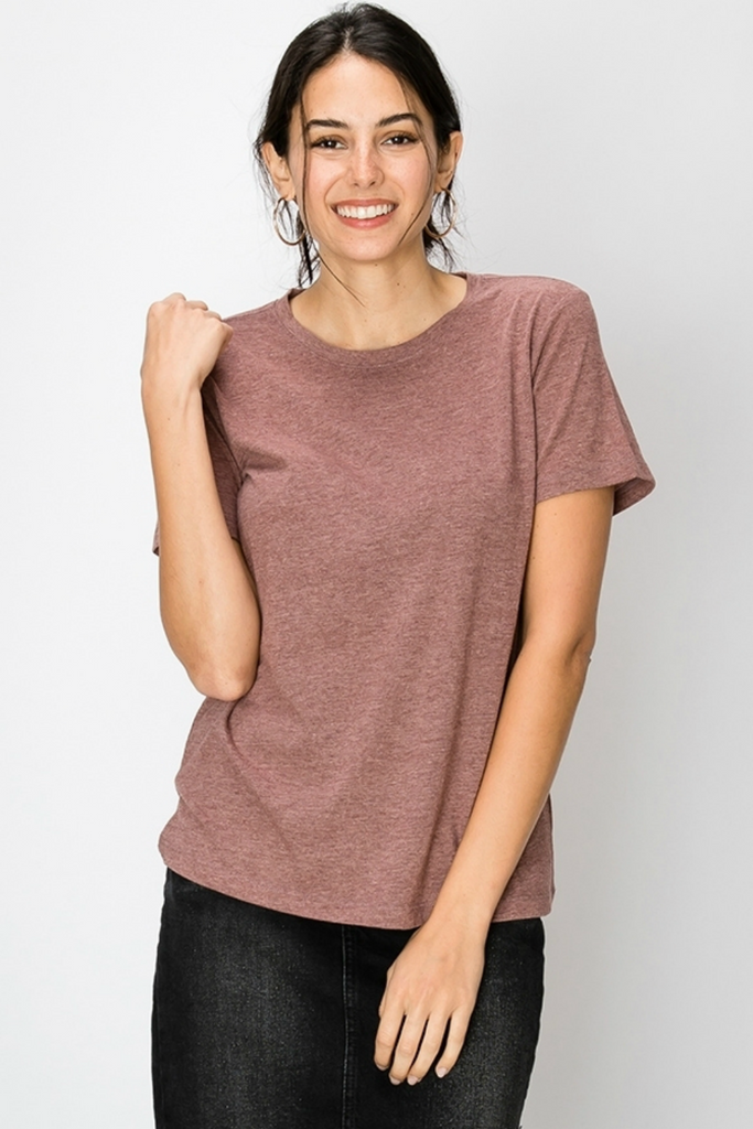 Double Zero - Washed Triblend - Marsala - Front