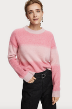 OMBRE STRIPE CREWNECK SWEATER