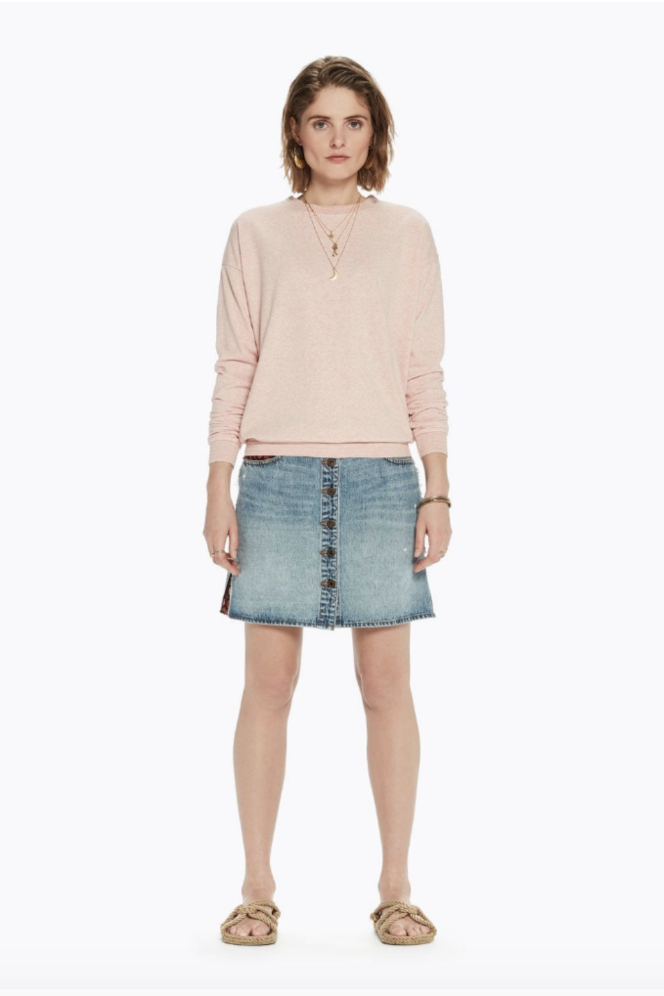 Scotch and Soda - Basic Light Sweater - Light Pink - Front