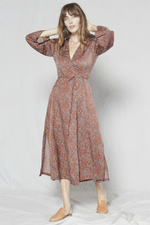 Outerknown - Rhiannon Wrap Dress - Nutmeg Laurel - Front