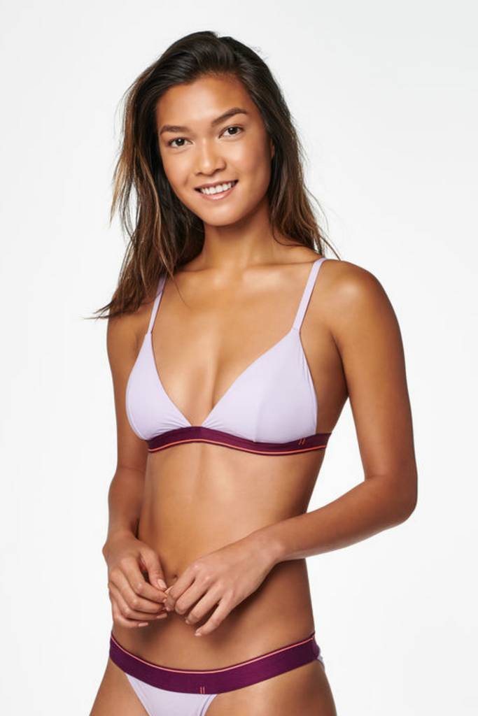 Stance - Triangle Bralette Nylon - Lavender - Side