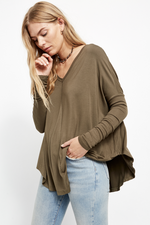 Free People - Moonshine Tunic - Army - Front