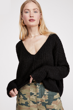 Free People - Moonbeam V - Black - Front