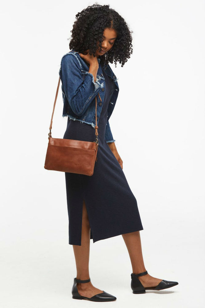 Able - Martha Crossbody - Whiskey - Model