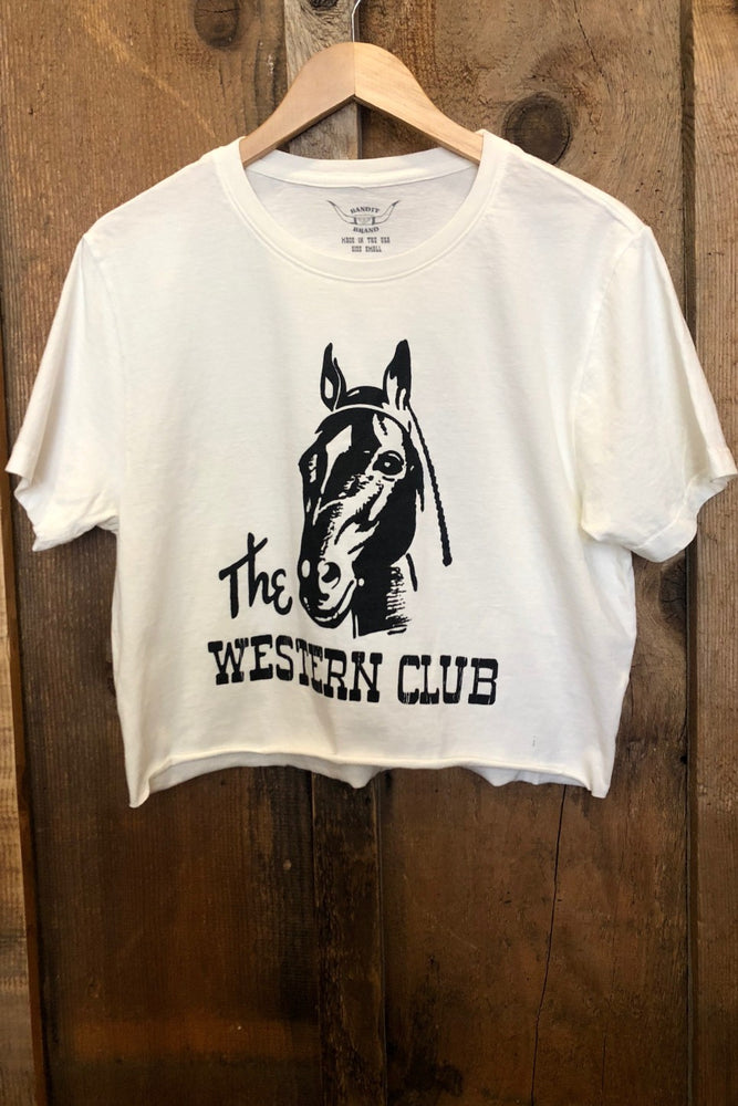 THE WESTERN CLUB CROPPED TEE