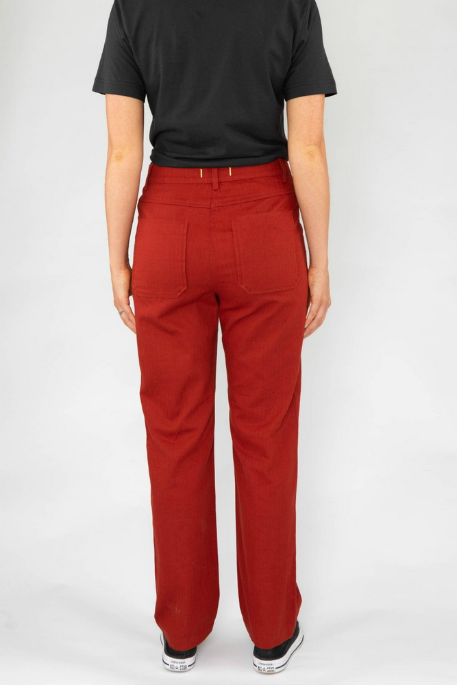 Roamers - Pacific Trouser - Clay Red - Back