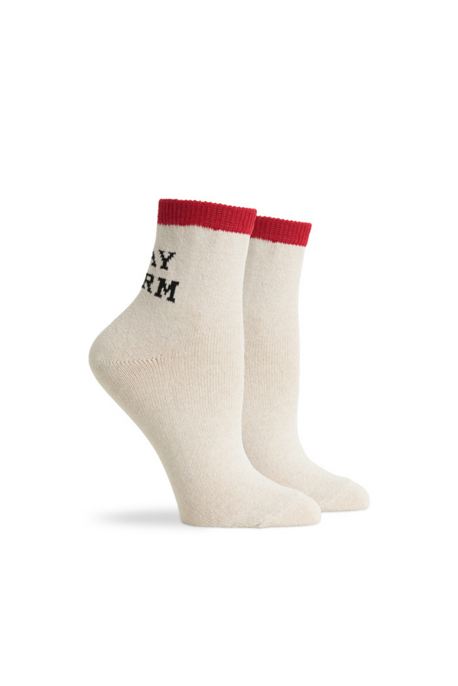 Richer Poorer - Stay Warm Ankle - White