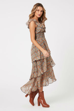 MinkPink - Fleetwood Floral Chiffon Dress - Multi - Side