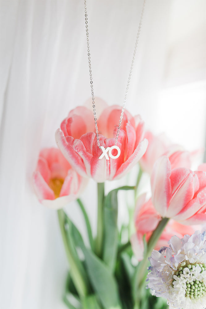 Able - XO Letter Charm Necklace