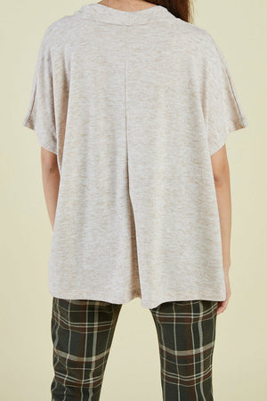 Sage the Label - Verona SS Top - Oatmeal - Back