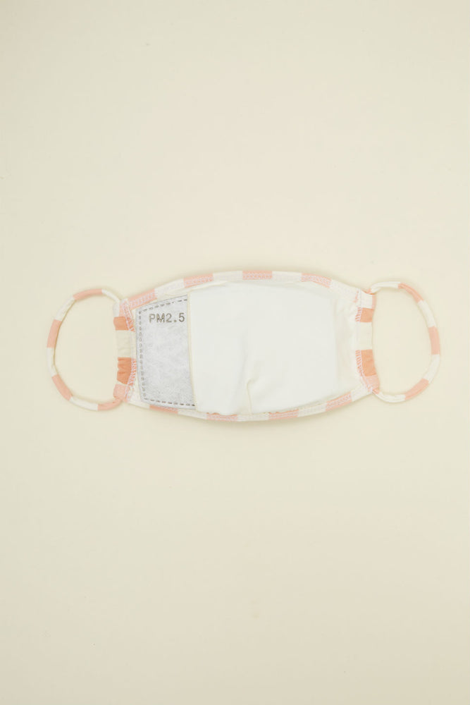 Dippin Daisy - Face Mask - Coral Beach Stripes - Back