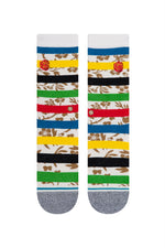 Stance - Petal Power Crew - White - Back