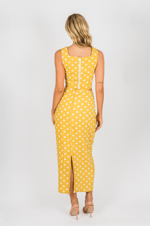 Toby Heart Ginger - Selena Skirt - Yellow Spot - Back