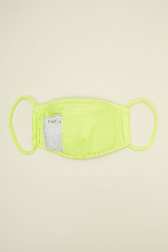 FACE MASK Tricot Neon Yellow
