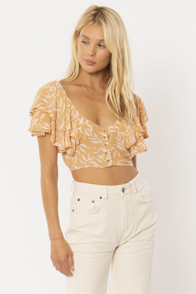 FIND YOUR LIGHT WOVEN TOP