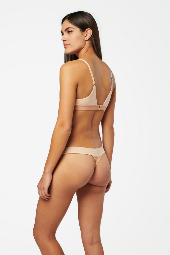 Stance - Wide Side Thong Nylon - Natural - Back