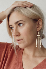 Mint Jewelry - Birch Earring - Gold - Model