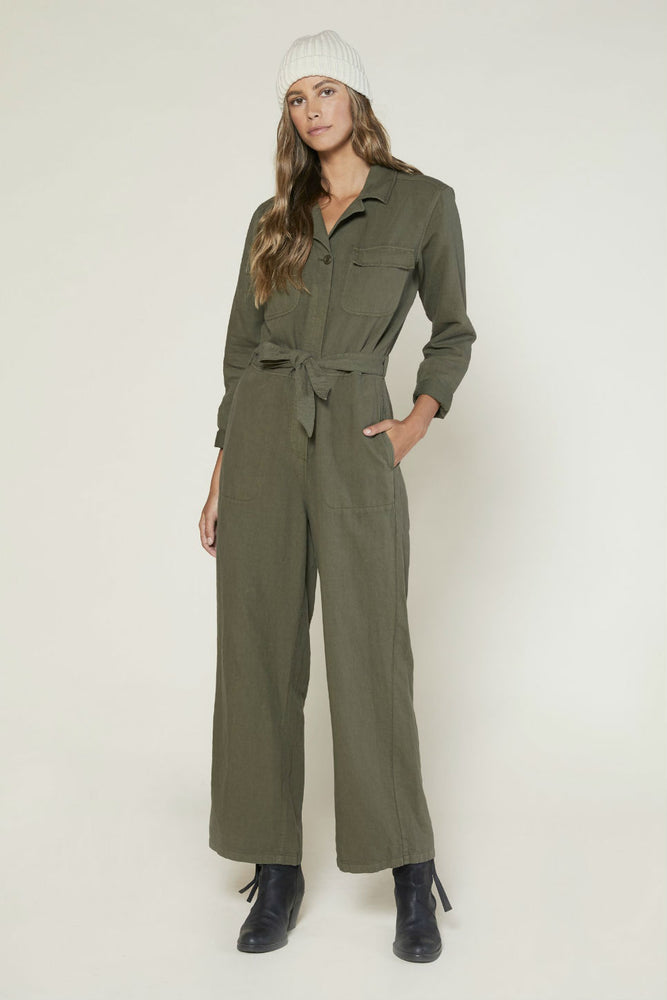 Outerknown - Scout Jumpsuit - Safari - Front