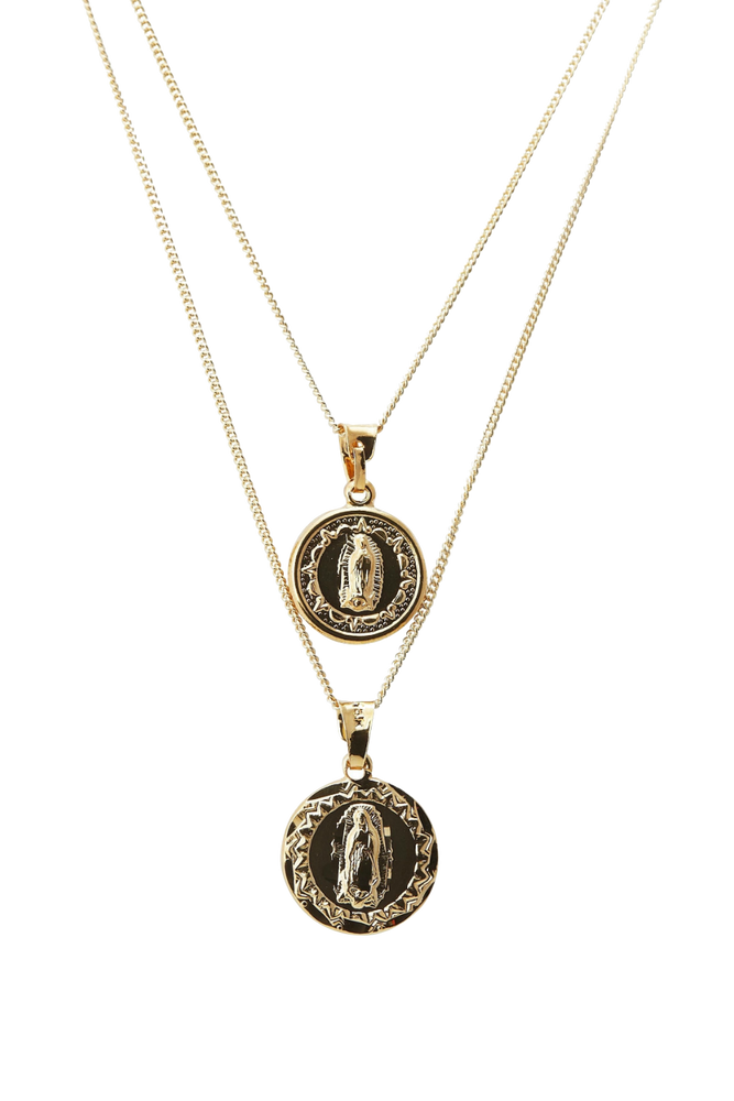 MEDALLION SET NECKLACE
