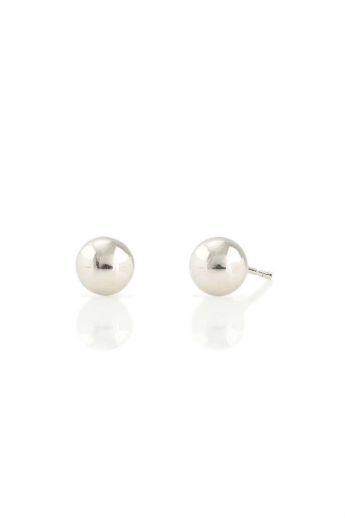 Kris Nations - Ball Stud Earrings - Sterling Silver