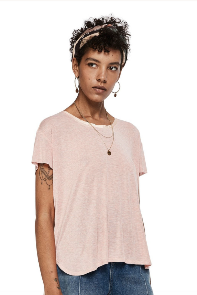 Scotch and Soda - Jersey SS Tee - Pink - Front