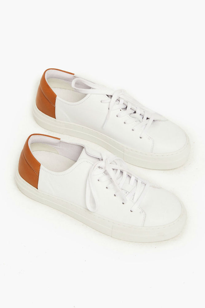 Able - Emmy Sneaker - White/Cognac