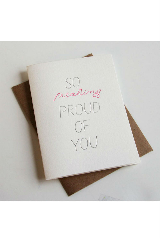 Steel Petal Press - So Proud Card