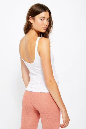 Free People - Tellin Me Tank - White - Back