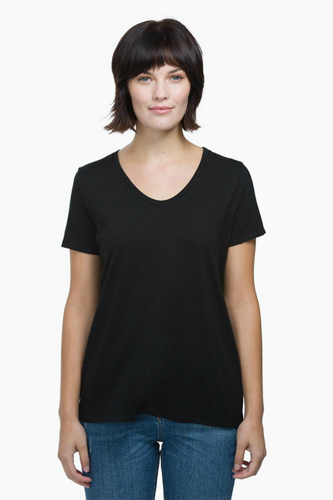 Richer Poorer - Scoop V Tee - Black - Front