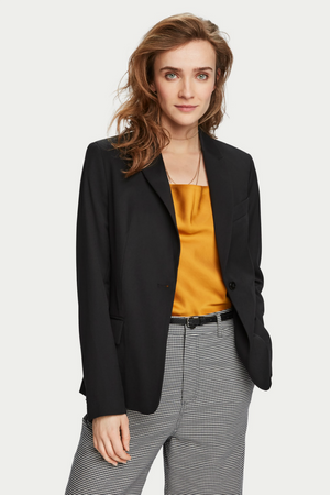 CLASSIC TAILORED BLAZER W/STRIPE LINING