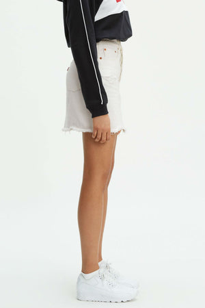 Levis - HR Deconstructed Iconic Buttonfly Skirt - Pearly White - Side