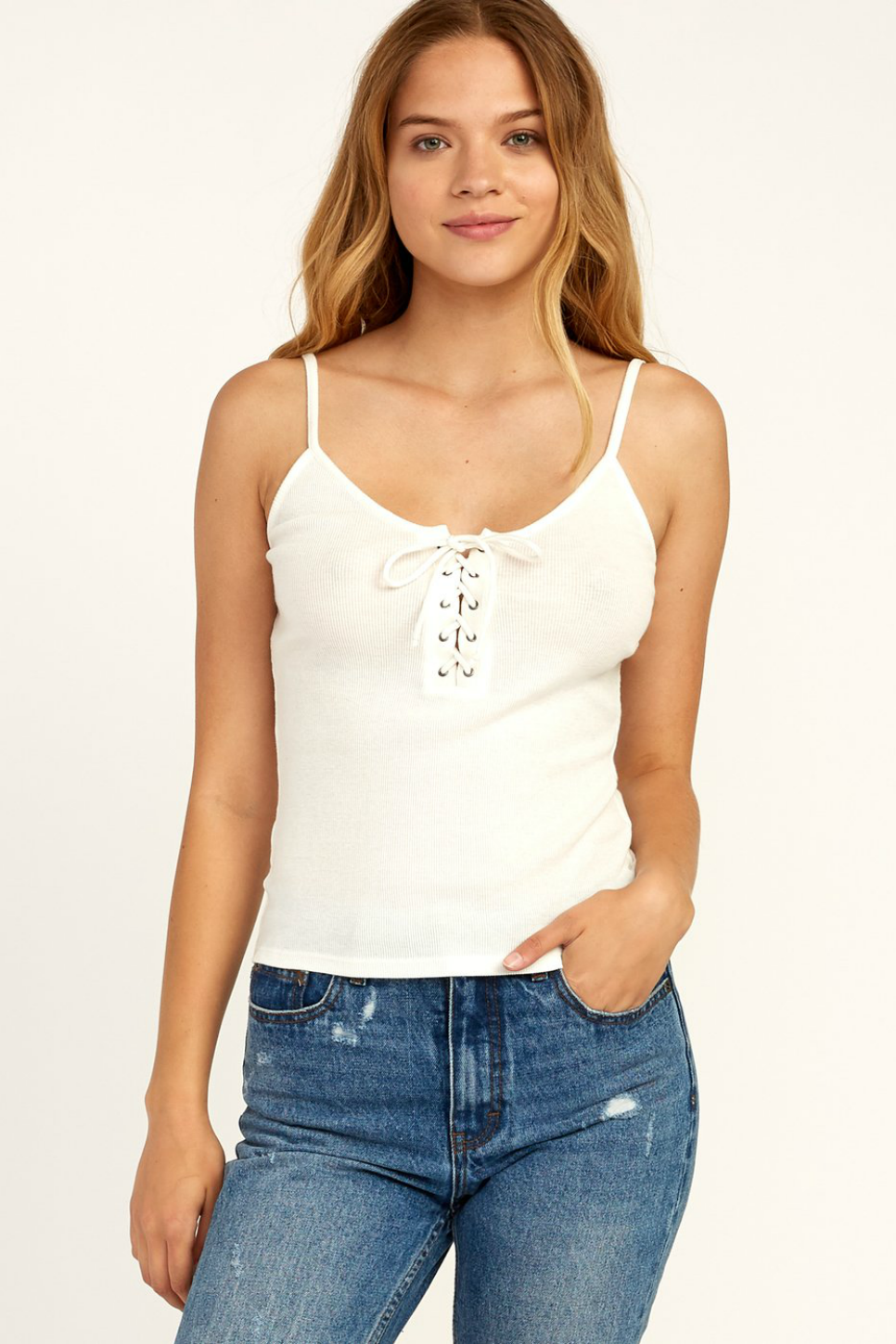RVCA - Hinged - Whisper White - Front