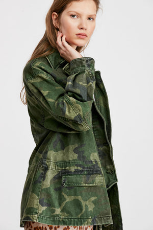 Free People - Seize the Day Jacket - Green Combo - Side