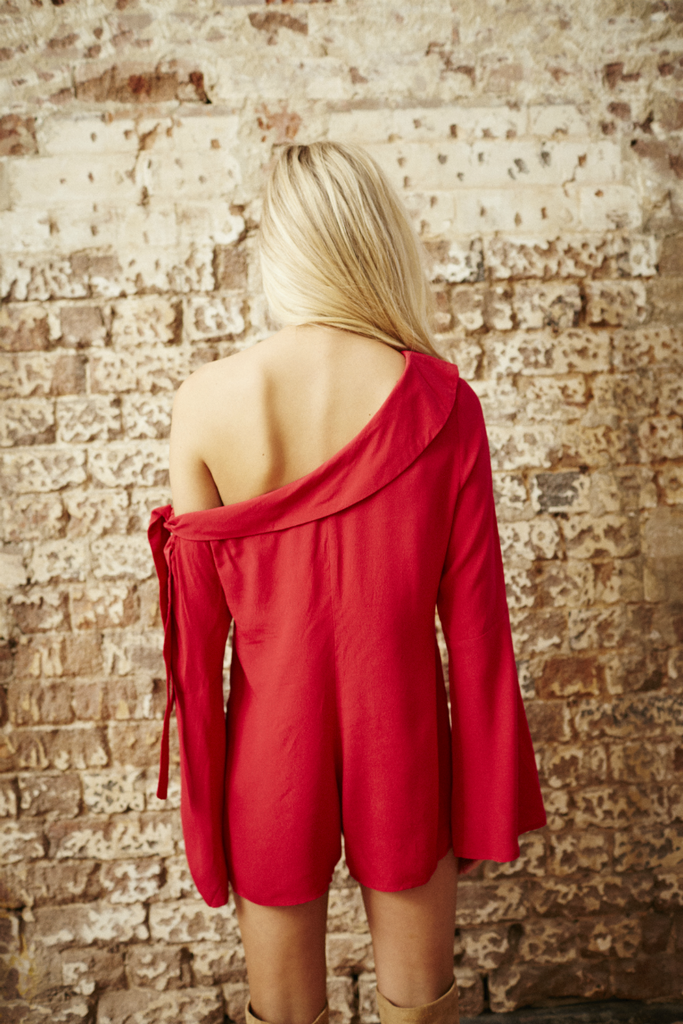 Somedays Lovin - Cheery Nights Playsuit - Cherry - Back