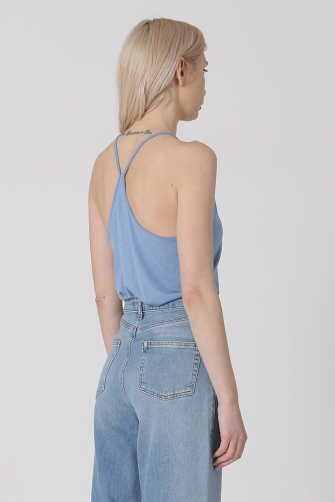 Double Zero - Lucy Tank - Sky Blue - Back