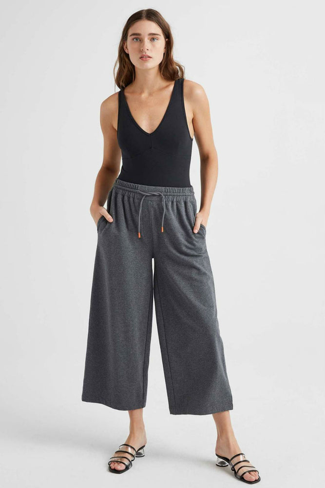 TERRY WIDE LEG PANT