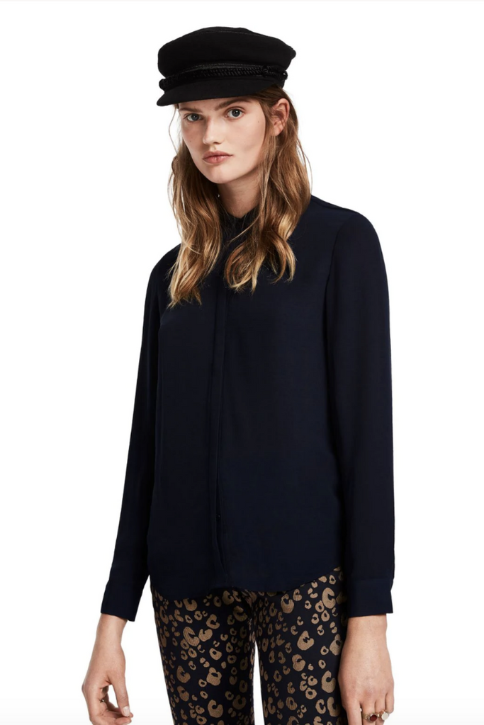 Scotch and Soda - Draped Shirt - Midnight - Front