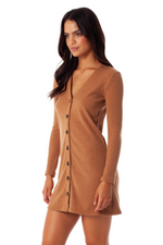 Rhythm - Bristol Dress - Latte - Back
