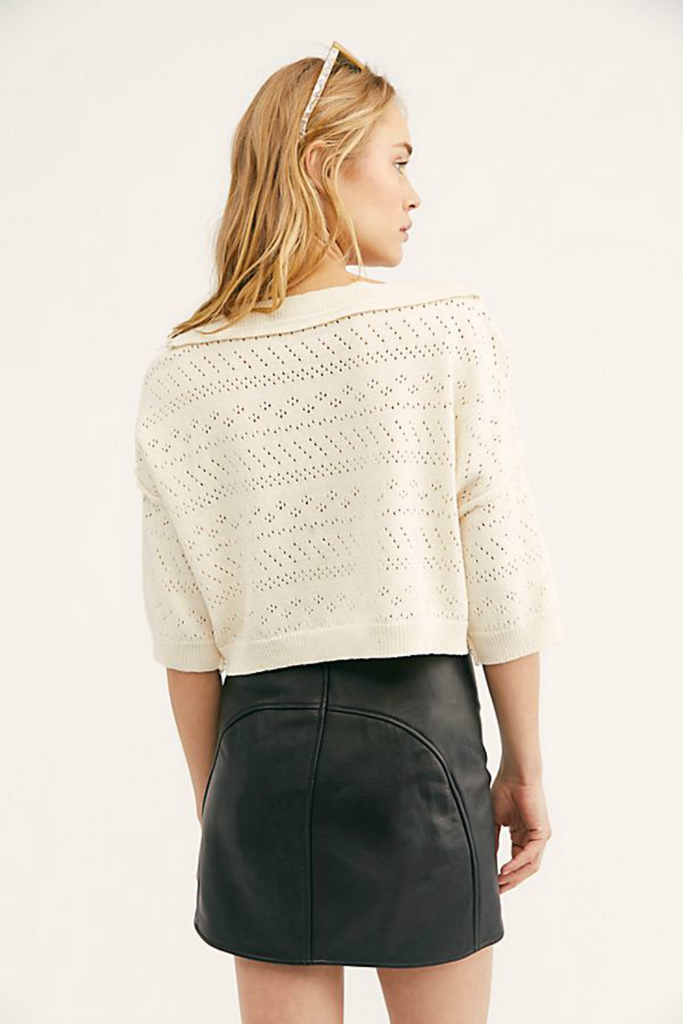 Free People - Sand Castle Sweater - White - Back