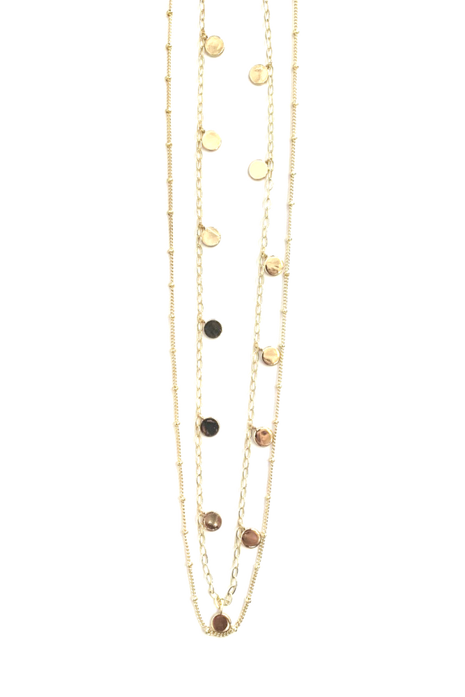 Nashelle - Tiny Dot Shimmer Necklace - 14K Gold Plated