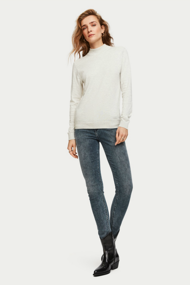Scotch & Soda - Cashmere Blend Turtleneck - Ecru Melange