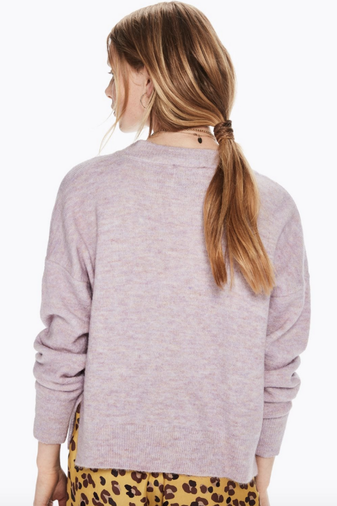 Scotch and Soda - Basic Crew Neck - Lilac - Back