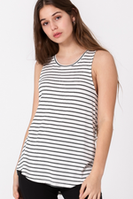 Double Zero - Lucia Stripe - Black/White - Back