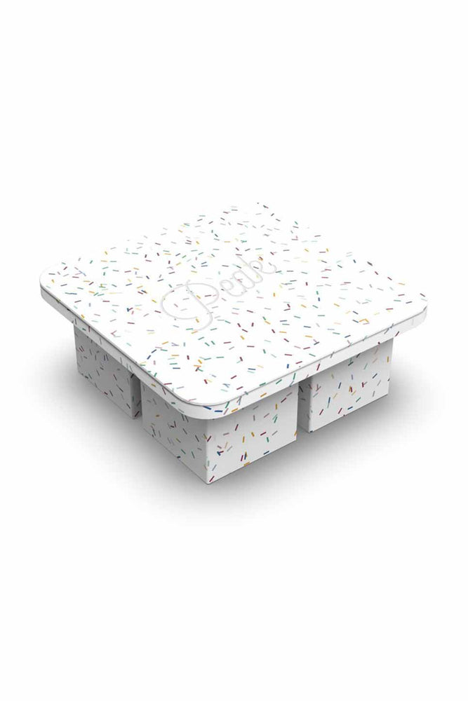 W & P - Speckled Extra Large Ice Tray - White