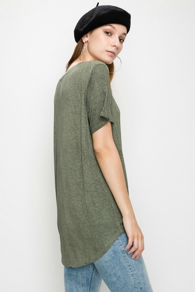 Double Zero - Lori SS - Olive - Back